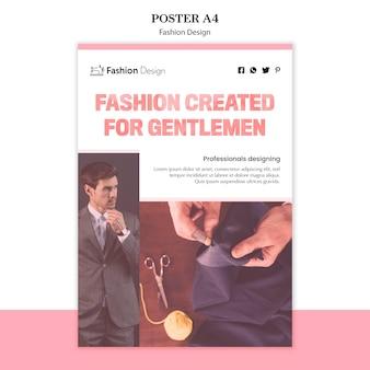 Tema de póster de diseño de moda