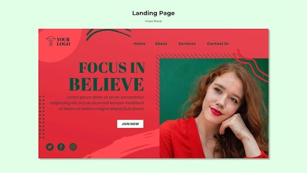 Tema unico per la landing page di bellezza