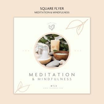 Tema de volante de meditación y atención plena
