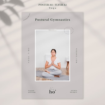 Tema de yoga para póster
