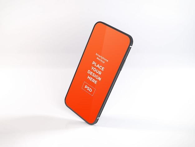 Tempate realista maqueta de teléfono inteligente