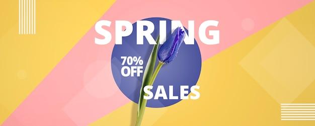 Template abstracto de rebajas de primavera