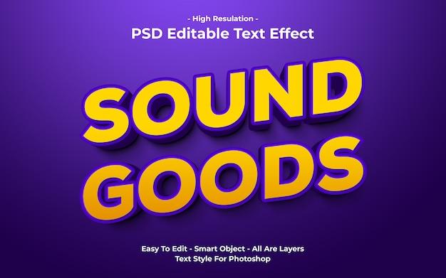 Templete van geluidseffecten teksteffect