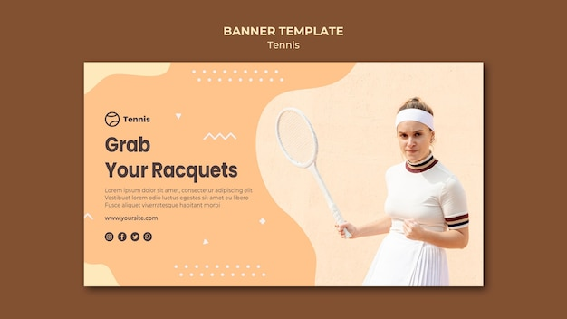 Tennis concept banner stijl