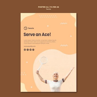 Tennis concept poster stijl