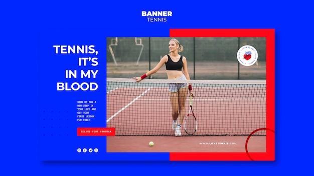 Tennis concept sjabloon voor spandoek