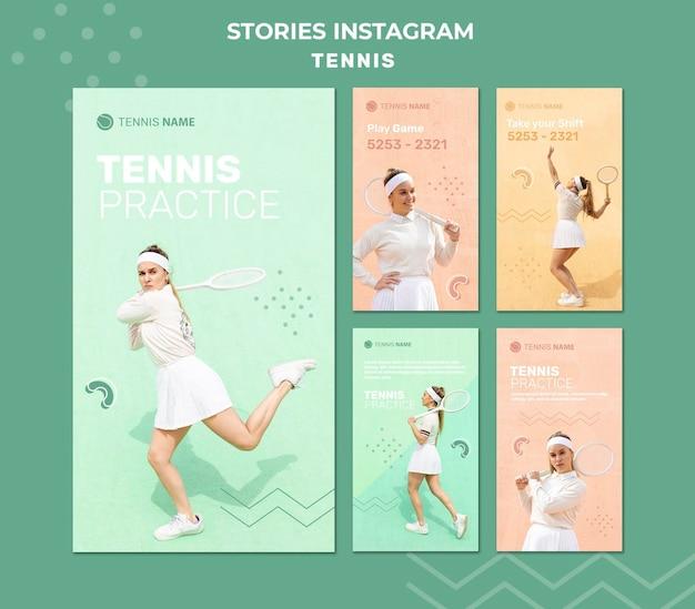 Tennis oefen instagram-verhalen