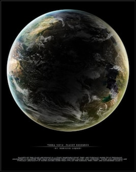 Terra nova planeta de recursos
