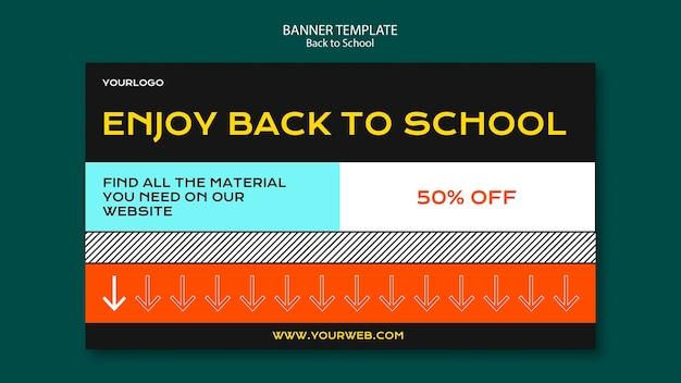 Terug naar school banner sjabloon concept