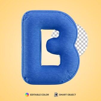 Terug naar school concept alfabet kussen letter b vorm