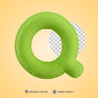 Terug naar school concept alfabet kussen letter q vorm