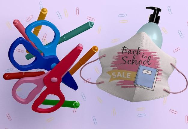 Terug naar school concept mock-up