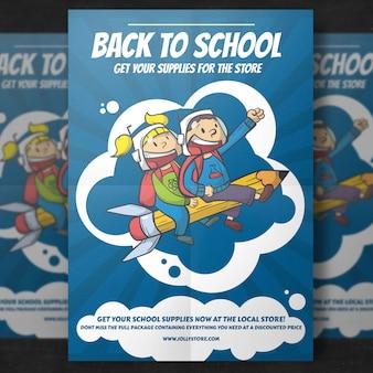 Terug naar school flyer-sjabloon
