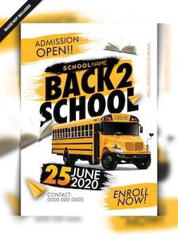 Terug naar school flyer