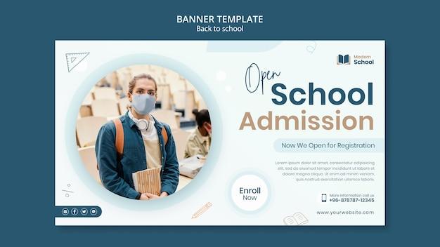 Terug naar school horizontale banner met foto