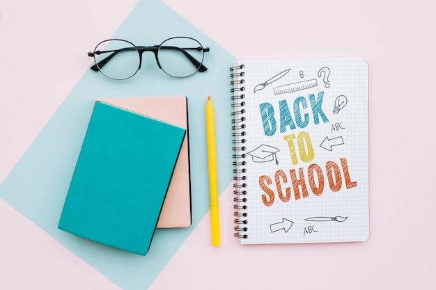 Terug naar school mockup notitieboekje