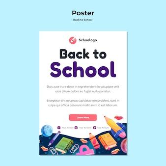 Terug naar school poster sjabloon