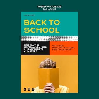 Terug naar school poster sjabloonontwerp
