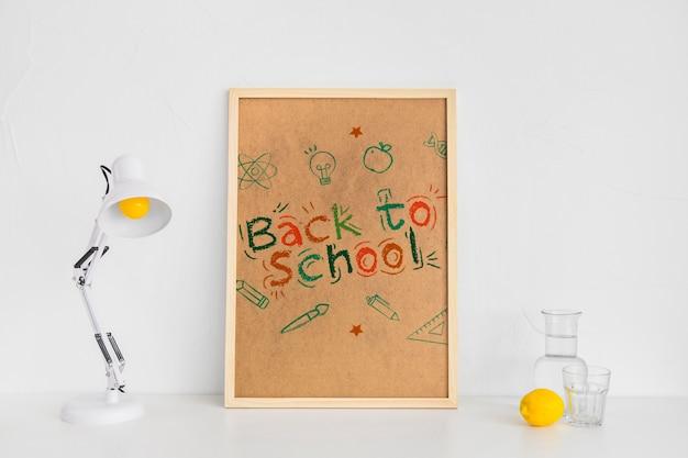 Terug naar school reclame mockup ontwerp