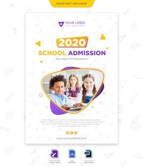 Terug naar school seizoen poster sjabloon
