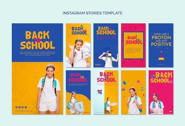 Terug naar school sjabloon voor sociale media