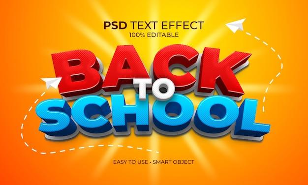Terug naar school tekst effect