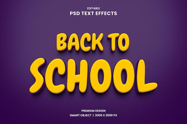 Terug naar school teksteffect