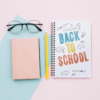 Terug naar schoolnotitieboekje