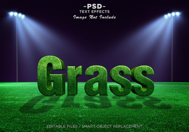 Testo modificabile 3d grass effects