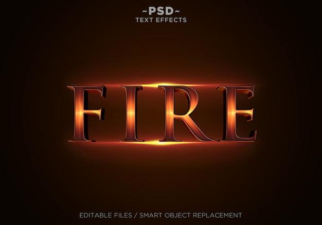 Testo modificabile di effetti di fuoco 3d