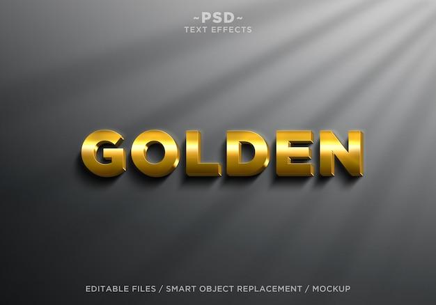 Testo modificabile di effetti dorati realistici 3d