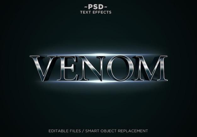 Testo modificabile di effetti venom 3d