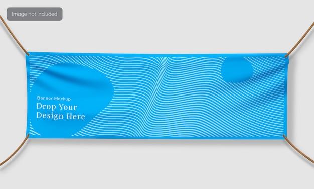 Textiel banner mockup ontwerp
