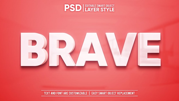 Texto blanco limpio con reflejo en granito rojo efecto de texto de estilo de capa de objeto inteligente editable en 3d