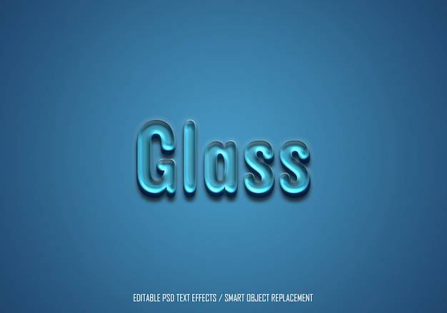 Texto editable de efecto de vidrio