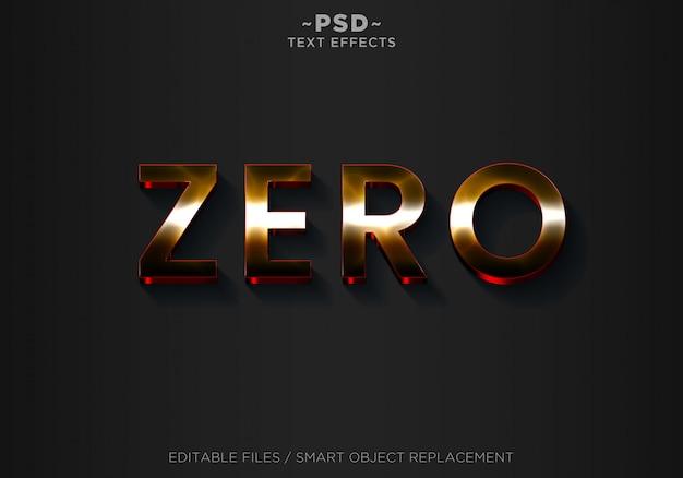 Texto editable de efectos de estilo cero 3d