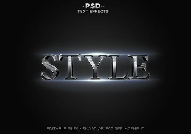Texto editable de efectos de estilo realista 3d