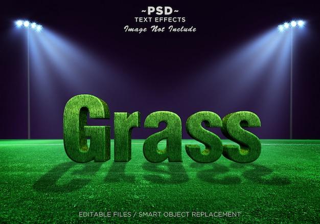 Texto editable de efectos de hierba 3d