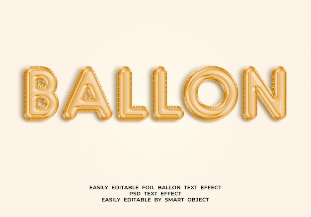 Texto de globo en estilo globo 3d
