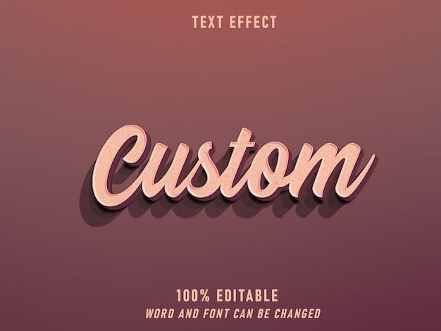 Texto personalizado estilo retro efecto estilo editable vintage