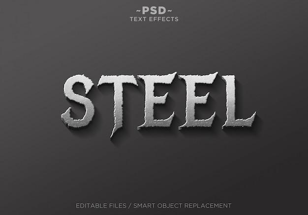 Texto de plantilla de efectos 3d real steel 2