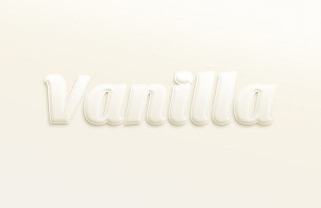 Texto suave efecto tipografía psd