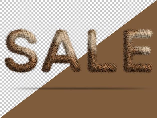 Texto de venta con piel 3d realista
