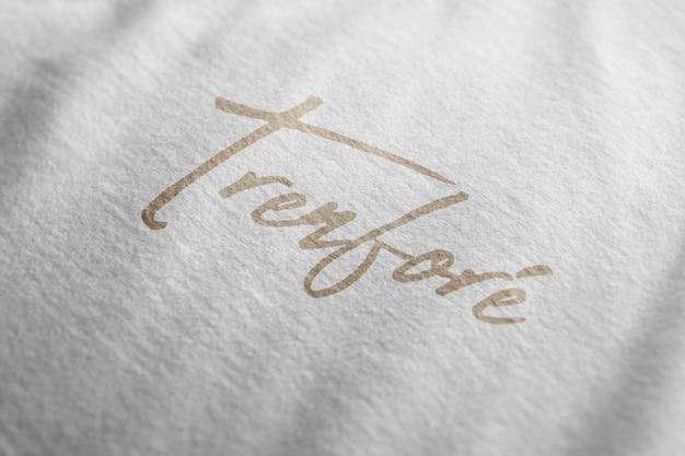 Textura de camiseta de maqueta de logotipo
