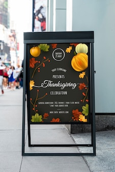 Thanksgiving-feest met mock-up