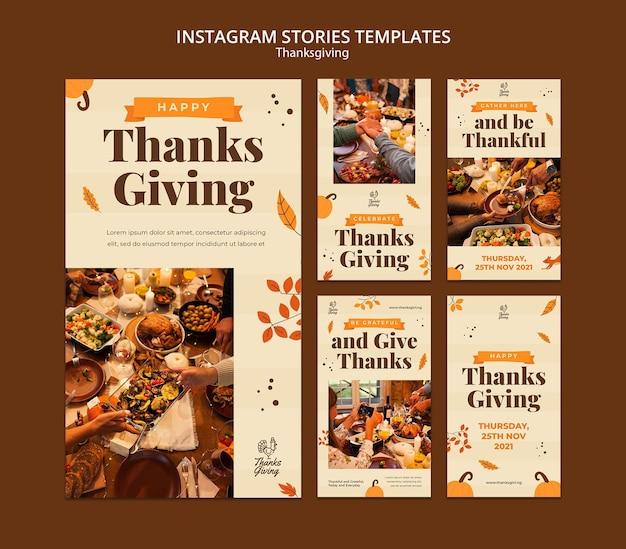 Thanksgiving ig-verhalen met herfstdetails