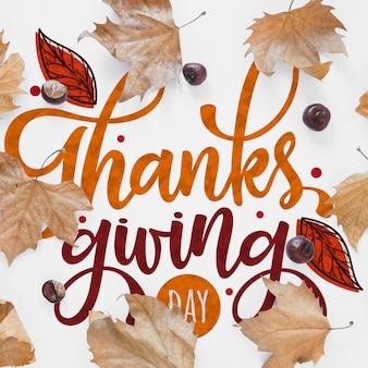 Thanksgiving mockup met copyspace