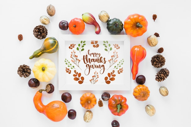 Thanksgiving mockup