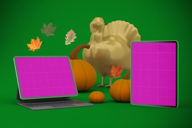 Thanksgiving responsieve mockup