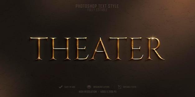 Theater 3d tekststijl effect sjabloonontwerp